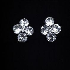 $42 Vintage SIGNED EISENBERG EARRINGS Vintage Rhinestone Earrings Clip On Earrings Costume Jewelry Bridal Wedding Jewelry Valentine's Day Gift by LastTangoVintage on Etsy
