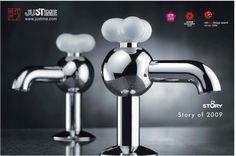 "Sink Tap ""Story"".  Red Dot Design Award 2009.  #design #award #JUSTIME #reddot"