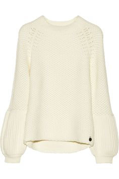 Karl Lagerfeld Lorena chunky-knit wool-blend sweater