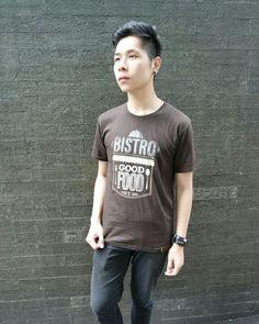 BISTRO GOOD FOOD TSHIRT [Brown] 89K