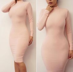 Winter Fashion Casual Warm Clothing High Quality Sexy Clubwear Exclusive Midi Bandage Bodycon Gowns Party Women's Dresses