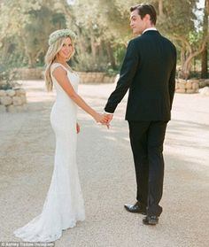 Wedded bliss: Ashley Tisdale shared a wedding photo on Monday one week after marrying Chri...