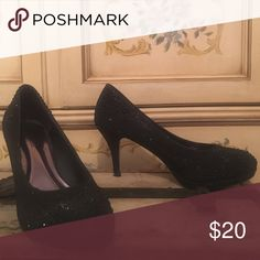 Black sequin pumps. Worn once. Awesome black sequin pumps. Pierre Dumas Shoes Heels