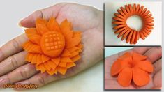 3 Amazing Carrot Garnishes for Food Designs & Decorations | Champey, Sunflower & Spiral Carving - YouTube