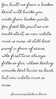 Survivors by Selena Gomez lyrics