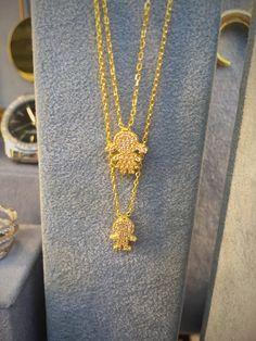 Colgantes en plata dorada para el Día de la Madre