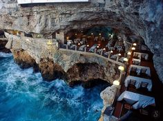 You know the food is going to be good, and now the view is rocking too. The Grotta Palazzese in Southern Italy gives you a unique dining experience inside a cave