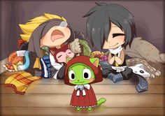 frosch's outfits are kawaii. frosch thinks so too :)