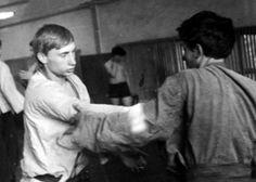 "A young Vladimir Putin trains ""Sambo"". Leningrad, 1971."