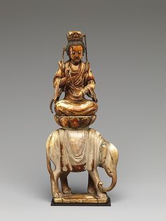 Bodhisattva Samantabhadhra, riding an elephant and signifying virtue. Buddha Buddhism, Buddhist Art, Buddhist Practices, Elephant Art, Sacred Art, Religious Art, British Museum, Chinese Art, Metropolitan Museum