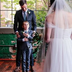 Sorry to make you cry on a Sunday, but this first look between the bride and her #stepson is everything. #blendedfamily wedding ideas! 📸: @ashahphotography #bride #Stepmom Family Wedding Pictures, Wedding Picture Poses, Wedding Photography Poses, Wedding Poses, Wedding Shoot, Wedding Portraits, Wedding Ideas, Wedding First Look, Wedding With Kids