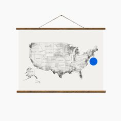 United States Hand drawn map USA map map of USA by BalticClub