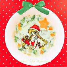 Sailor Moon cream stew✨ Merry Christmas  セーラームーンのクラムチャウダー✨なんとも貧相なシチューになってしまいましたが、全ての具は底に沈んでますこれまた薄目でご覧ください 笑  #sailormoon #sailormoonfood #christmas #naokotakeuchi #creamstew #christmasdinner #セーラームーン #セーラームーンcrystal #セーラームーンキャラフード #キャラフード #クラムチャウダー #クリームシチュー #クリスマスディナー #クリスマス #武内直子 #オブラートアート #オブアート