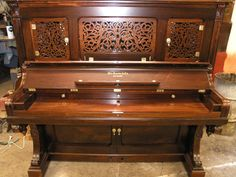 Don't let pianos go to the dump! From piano --> piano bar. Check out this beautiful restoration. #Knabe #upright #pianobar