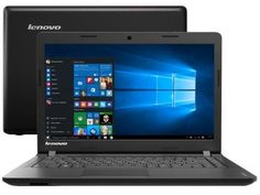 "Notebook Lenovo Ideapad 100 Intel Dual Core - 4GB 500GB LED 14"" Windows 10"