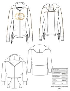 illustrator fashion templates free_hoodie