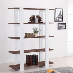 Have to have it. Column Bookcase - Walnut - $186.98 @hayneedle.com