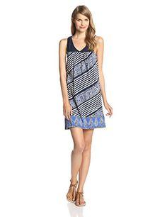 Lucky Brand Women's Striped Crochet Dress