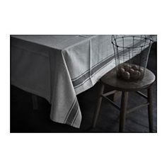 IKEA - VARDAGEN, Tablecloth, Cotton/linen blend with the softness of cotton and the matte luster and firmness of linen.The tablecloth both protects the table and creates a decorative table setting with atmosphere.
