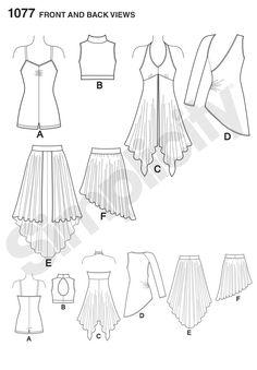 S1077 Girls' / Misses' Knit Dancewear