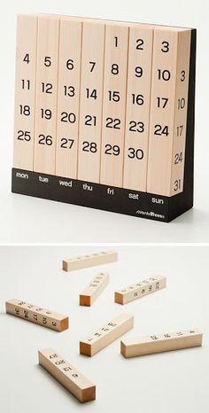 Calendarios Perpetuos de Madera - Fácil y Sencillo