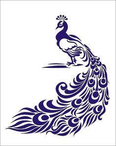 Items similar to Stencil, Peacock bird image is approx. 7 x inches for signs crafts wall linen burlap decoration on Etsy Stencil Patterns, Stencil Art, Stencil Designs, Embroidery Patterns, Animal Stencil, Stencil Templates, Art Template, Stencil Fabric, Hand Embroidery
