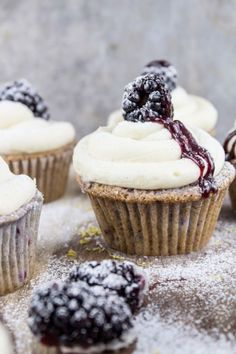 Blackberry Bourbon cupcakes ~ 'One happy bite at a time!'