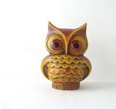 Vintage 1960 70 S Baldelli Italy Ceramic Pottery Green Owl
