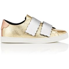 Fendi Women s Mixed-Leather Double-Strap Sneakers (2 6dd44e9701f51