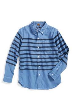 Tailor Vintage 'Sailor Stripe' Oxford Woven Shirt (Big Boys)