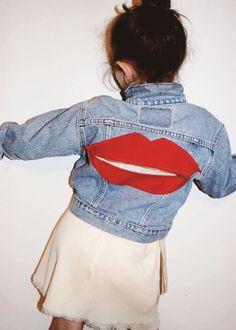 4f997f4c1 SiD NYC: kids vintage Levis jacket with LIPS pocket path on back - zips up
