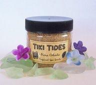 50 Tropical Bridal Shower Favors - TIKI TIDES Mini Sugar Scrub Favors - Hawaiian Luau Bridal Shower Theme Party - Luau Baby Shower