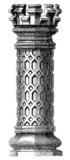 Vintage Architecture Clip Art - 3 Tudor Chimney Pots - The Graphics Fairy