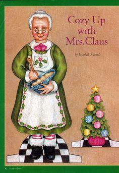 Bonecas de Papel: Mamãe Noel
