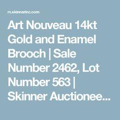 Art Nouveau 14kt Gold and Enamel Brooch   Sale Number 2462, Lot Number 563   Skinner Auctioneers