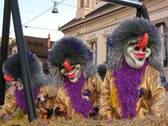 Cortège at the Carnival of Basel, Fasnacht in Switzerland by http://www.FestiveSearch.com/