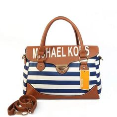 74cdf4498a Michael Kors Striped Medium Blue Satchels Outlet Cheap Michael Kors