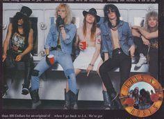 Guns N' Roses - Slash, Duff Mckagan, Axl Rose, Izzy Stradlin & Steven  Adler