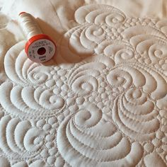 Karen's Quilts, Crows and Cardinals: Free Motion Feather Sampler and Aurifil Giveaway Winner
