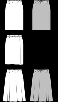 Burda Röcke mit Gummizug