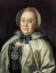 Maria Rumyantseva (1699 - 1788). Mistress of Peter the Great until his death. He threatened her with execution if she took another lover.