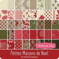 Petites Maisons de Noel Layer Cake French General for Moda Fabrics | Fat Quarter Shop