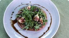 Michael Symon's Grilled Ham Steak with Figs & Arugula
