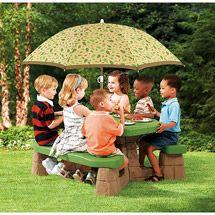 Walmart: Step2 Picnic Table with Umbrella