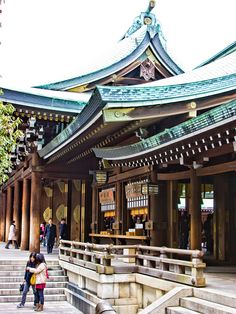 Meiji Shrine in Harajuku(?), Tokyo. This link has pictures and all sorts of helpful info for tourists