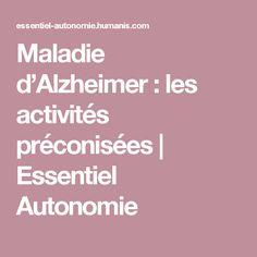 Maladie d'Alzheimer : les activités préconisées   Essentiel Autonomie