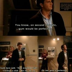 Gum would be perfection~ Chandler Bing