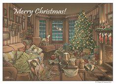Merry Christmas !! - Art by © Chiara Di Francia -   http://chiaradifranciailblog.blogspot.it/    ( blog that collects comics , illustrations , print and sketch /  blog qu'il recueille bandes dessinées , illustrations , etampes et croquis )