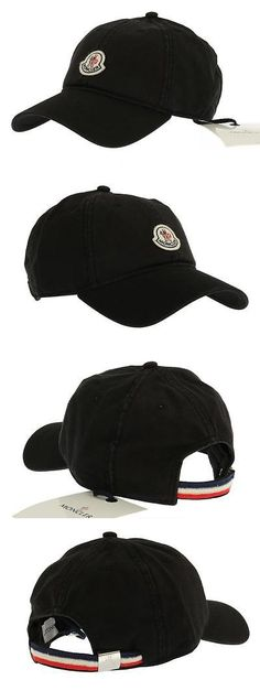 Hats 52365: New Moncler Men S Black Cotton Web Detail Logo Baseball Cap Hat One Size -> BUY IT NOW ONLY: $119.99 on eBay!