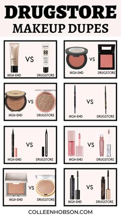 Affordable drugstore makeup dupes for our favorite high-end makeup products that will save you money without sacrificing quality. #drugstoremakeupdupes